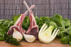 Racks of lamb Stock Images