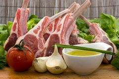 Racks of lamb Stock Photos