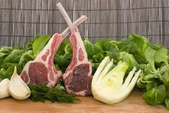 Racks of lamb Royalty Free Stock Image
