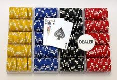 Racks of poker chips Stock Photography