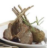 Racks Of Roasted Lamb Ribs Stock Photos