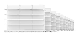 Racks with shelves isolated on white background Royalty Free Stock Image