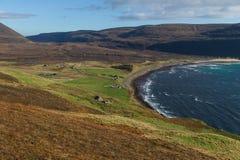 Rackwick fjärd, ö av hoyen, Orkney öar Arkivfoton