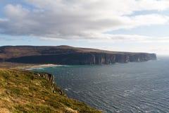 Rackwick fjärd, ö av hoyen, Orkney öar Arkivfoto