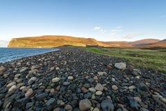 Rackwick fjärd på ön av hoyen, Orkney Arkivbilder