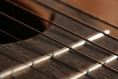 Raclements de guitare Photographie stock