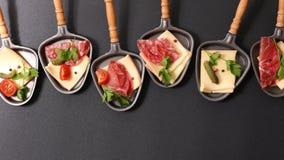 Raclette干酪 库存照片