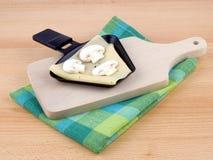 raclette партии лотка гриба еды сыра Стоковое Изображение