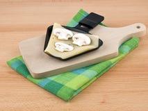 raclette партии лотка гриба еды сыра Стоковое Изображение RF