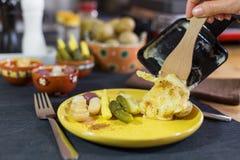 Raclette Fotografering för Bildbyråer