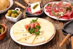 Raclette photographie stock libre de droits