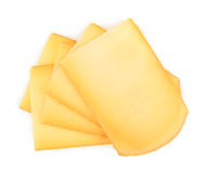 Raclette cheese isolated on white background Stock Image