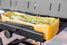 Free Raclette Grilled Melted Cheese At A Street Food Market Stock Image - 156595781