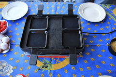 Raclette set Royalty Free Stock Images