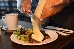 Raclette Steak royalty free stock photos