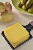 Raclette, a swiss gourmet meal Royalty Free Stock Photography