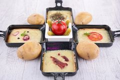 Raclette tray Stock Image