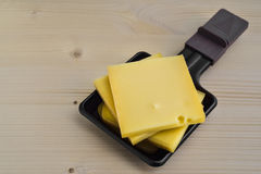 Raclette trays with  chessee Royalty Free Stock Photography