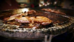 Raclettelapje vlees Stock Afbeelding