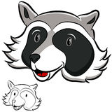 Racoon Face Royalty Free Stock Images