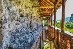 Racos城堡墙壁  库存照片