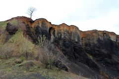 Racos extict volcano crater - geological park Stock Image