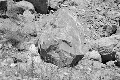 Basalt Rocks, volcanic rock outcrops located in the village Racos, Romania. Racos is a village in Brasov county, Transylvania, Romania near one active and three royalty free stock images