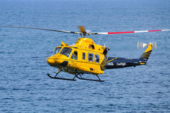 RACQ CareFlight helicopter in flight Royalty Free Stock Image