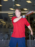 Racquet ball Player Royalty Free Stock Photography