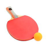Racquet and balls to play ping-pong Stock Photography