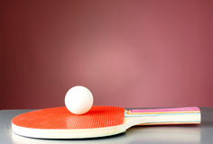 Racquet and tennis ball Royalty Free Stock Photography
