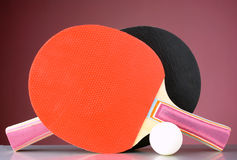 Racquet and tennis ball Royalty Free Stock Photos