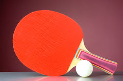 Racquet and tennis ball Royalty Free Stock Images