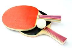 Racquet and tennis ball Stock Photo