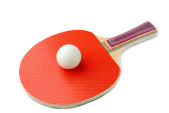 Racquet and tennis ball Stock Image