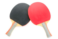 Racquet to play ping-pong on white background. Racquet to play ping-pong isolated on white background stock photo