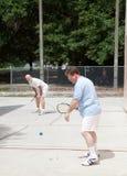 racquetball игры семьи стоковая фотография