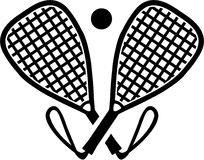 Racquetball bats crossed Stock Images