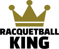 Racquetball king with crown Stock Photography