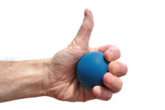 Racquetball Player Giving Thumbs Up Sign Royalty Free Stock Image