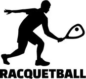 Racquetball player Stock Images