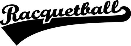 Racquetball słowo Obraz Royalty Free