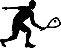 Racquetball silhouette Royalty Free Stock Image