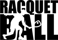 Racquetball word with silhouette Royalty Free Stock Photo