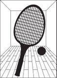 Racquetballgericht stock abbildung