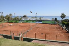 Racquets club in the beach Stock Image
