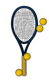 Racquets and tennis balls Stock Image