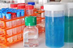 Réactifs de laboratoire Photo stock