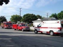 Réaction médicale de secours au résidant Image stock