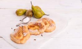Racuchy – Polish pancakes with fruits Stock Photos